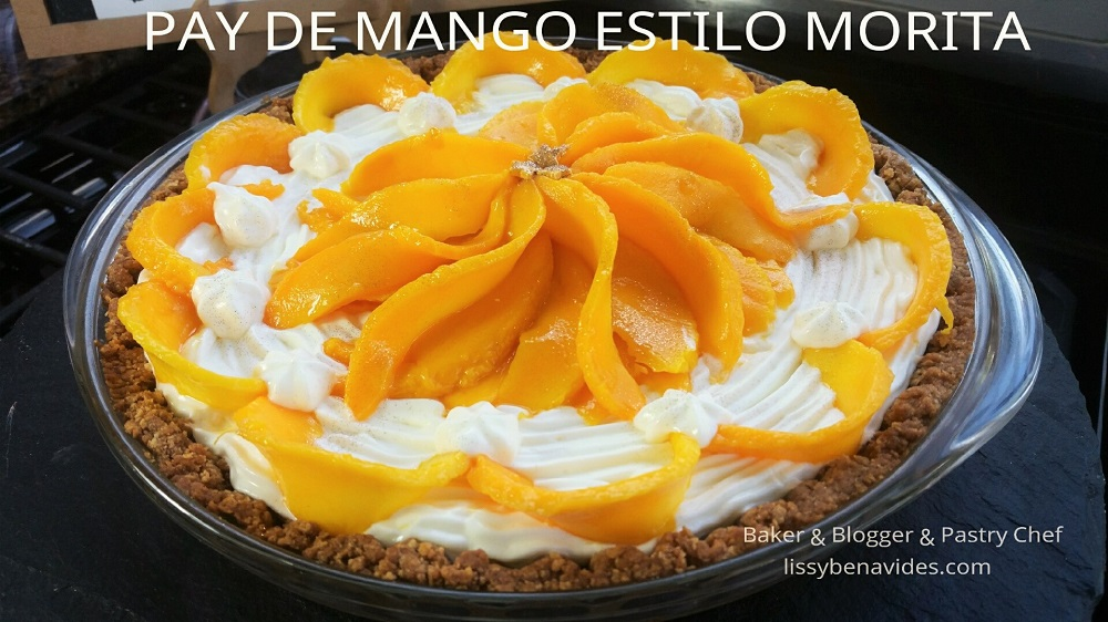 Receta de Pay de Mango estilo Morita, VideoClase en Facebook Live !